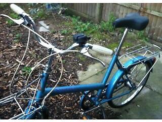 Nice Vintage LADIES'/GENTS' bicycle Raleigh Shopper Twenty TOWN BIKE Good condition