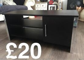 Black Large TV Stand Units