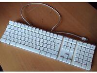 Genuine Apple A1048 Mac Pro iMac White USB Keyboard UK English QWERTY Layout