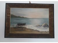 Victorian Painting Oil on Canvas in original frame.