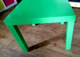 Ikea green LACK Side table