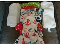 9 reusuable nappies: little lamb, alva, bloom. Great condition