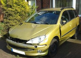 PEUGEOT 206SW 1.4HDI, 56000 Miles, For Spares..