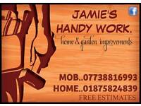 Decking,fencing,roofing,harling,garden makeovers,and lots more