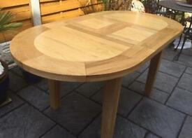 Solid Oak Extending Dining Table - New / Unmarked