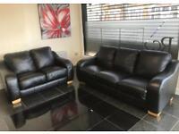 3&2 seater Black Original Leather Designer Sofa set