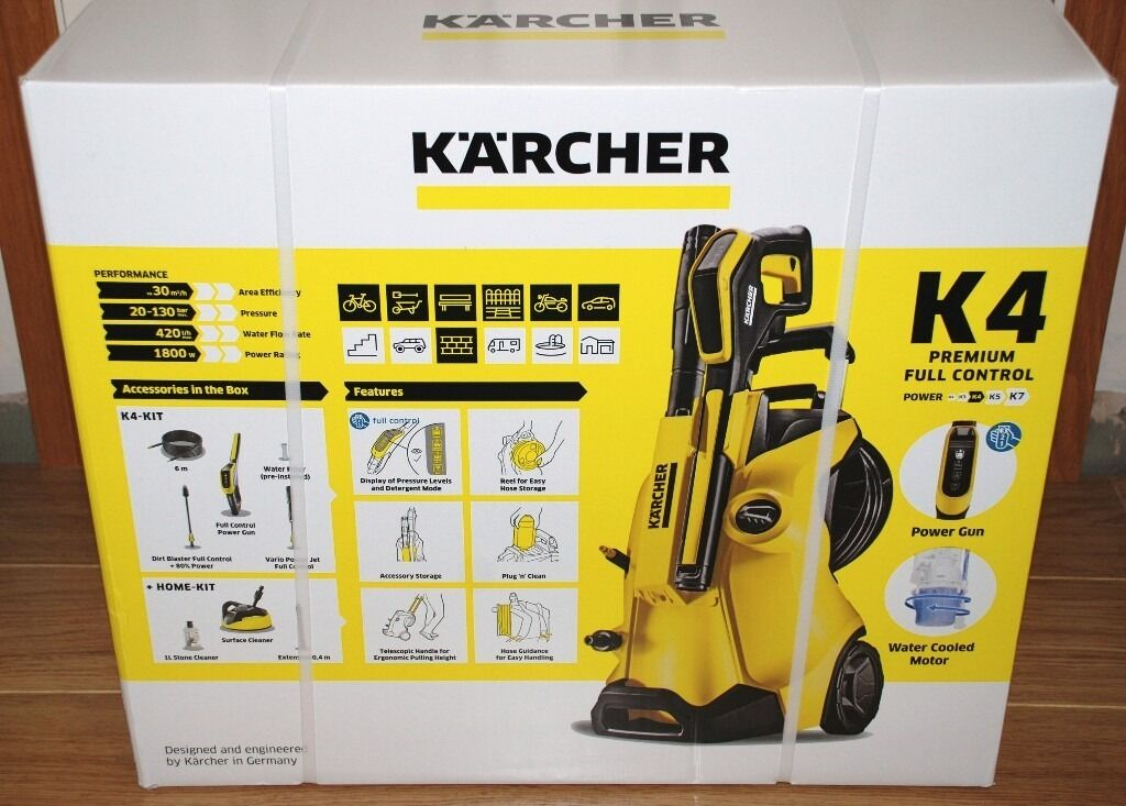 karcher k4 premium full control pressure washer home kit brand new in bromham. Black Bedroom Furniture Sets. Home Design Ideas
