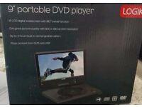 "Logik 9"" portable dvd player new"