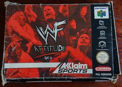 WWF Attitude - N64 (PAL, Boxed, incl manual)
