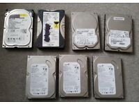 Selection of PC hard drives
