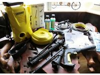 KARCHER K2 COMPACT PRESSURE WASHER HOME/GARGEN WITH MANY EXTRAS NEW BOXED.