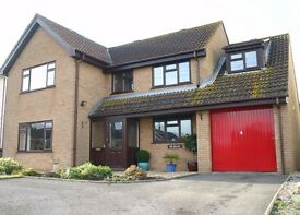Delightful large modern detached 3-bedroomn + nursery unfurnished house to rent in village location.