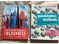 Corporate Finance for Business & Quantitative Methods