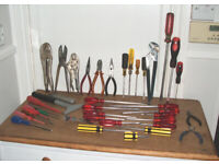 Hand Tools - Joblot - 46 Pieces - Screwdrivers - Pliers - Mixed Brands - Horfield