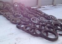 100 MOTORCYCLE WHEELS FOR FARM PROJECTS HORSE CARTS etc