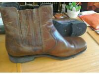 Full leather men boots size 10