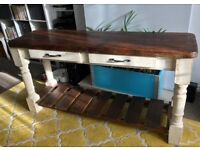 Solid wood farmhouse hall/ console table