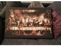 Large Horror Canvas 'The Last Supper' New Halloween 30x20