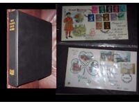 Stamps Album of QE2 46 FDCs 1971-77
