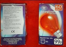 Fireglow Electric Fire Bulbs x 2