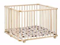 New Geuther fold able playpen - wood - size 94,5 x 102 cm