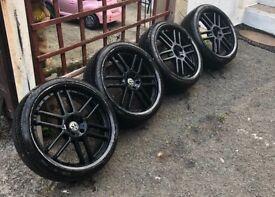 "19"" 5x100 pcd mk4 gold Seat Leon Ibiza alloys wheels"