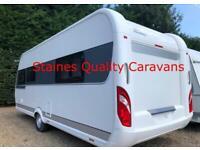 Hobby caravan 560 excellent (2014) island bed. Like Fendt/Tabbert