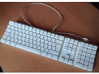 Genuine Apple A1048 Mac Pro iMac White USB Keyboard UK English QWERTY Layout