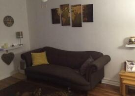 Dfs Morray 4 Seat sofa. Chocolate colour.