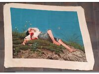 Handmade Needlepoint Gobelin (Tapestry) 'The Shepherd Boy'