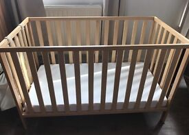 Excellent condition baby cot with mattress