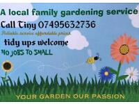 Fully insured Local gardener available some days