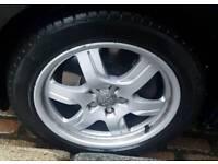 "Audi A5 17"" Alloys x4 Rims Set with Tyres Deep Dish Alloy 17 Inch"