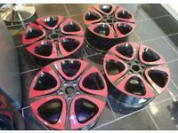 "Brand new 18"" alloy wheels 5 x 110 zafira astra fiat 500 x"