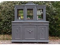 BEAUTIFUL FRENCH ANTIQUE BUFFET, GLAZED DRINKS/DISPLAY CABINET