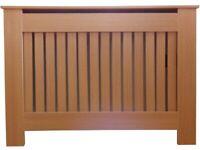 Jack Stonehouse Radiator Cover Modern Vertical Slat MDF Wood Cabinet, Oak Small