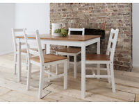 Country style dining Table and 4 Chairs Contemporary Dining Set furniture