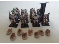Warhammer Chaos Warriors - painted job lot, includes limited edition 25th anniversary model