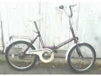 Stowaway fold up bike