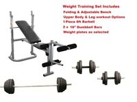 Complete weight training set From Only £99. NEW