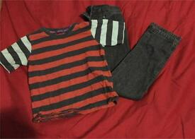 Boys 5-6 Top and 7-8 jeans 👖