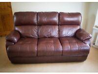 3 seater leather sofa / settee
