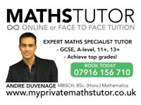 GCSE MATHS TUTOR – specialist - London - boost your grades - Home or Online.