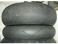 2004 Suzuki Hayabusa front and rear wheels with tyres