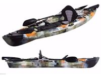 Pro Dace Prowler Angler Ocean Kayak with Rudder Seat paddle