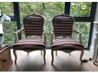 Louis XV style armchairs US flag (pair)