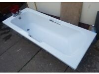 Bathtub c/w taps/ shower head / glass screen/ stands, H35cm (without stand) x L170cm