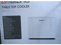 Brand new in box table top fridge/cooler