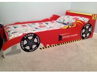 Boys toddler racing car bed bundle for sale