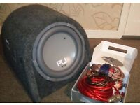 """Fli Trap 10"""" 800w Active Subwoofer with wiring kit"""